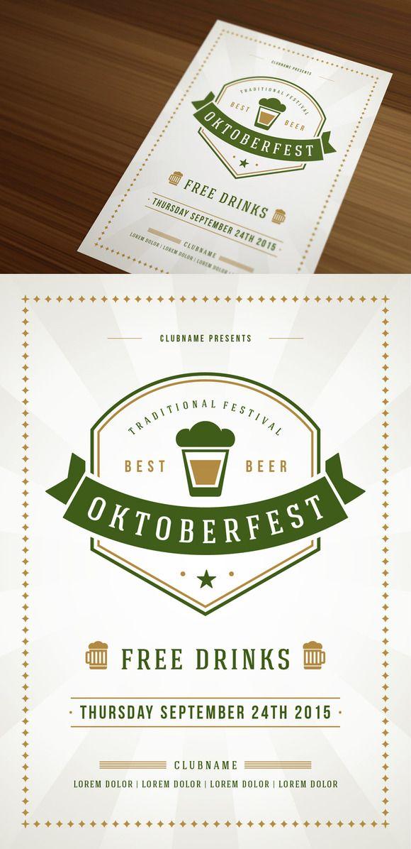 Oktoberfest Poster or Flyer by Vasya Kobelev on Creative Market