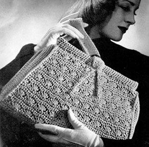 Vintage crochet <3 pattern:    http://www.freevintagecrochet.com/free-bag-pattern/coats226/bag