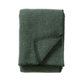 Domino wool throw - green - Klippan Yllefabrik