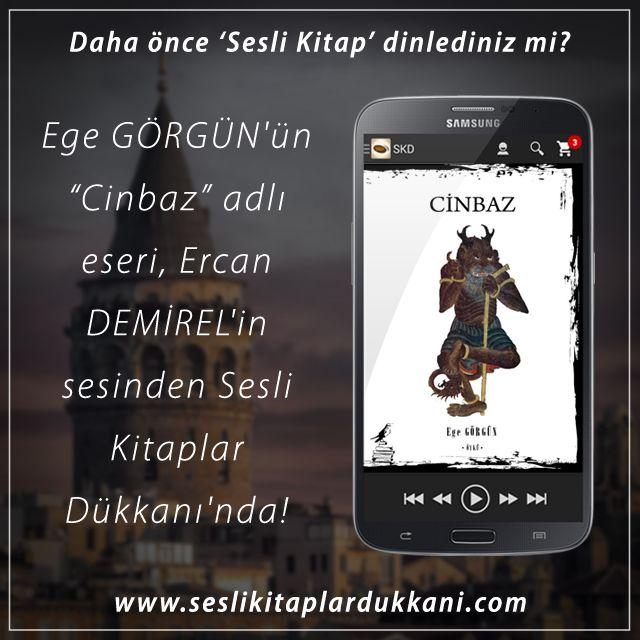 """Ege GÖRGÜN'ün """"Cinbaz"""" adlı eseri, Ercan DEMİREL'in sesinden Sesli Kitaplar Dükkanı'nda!"""