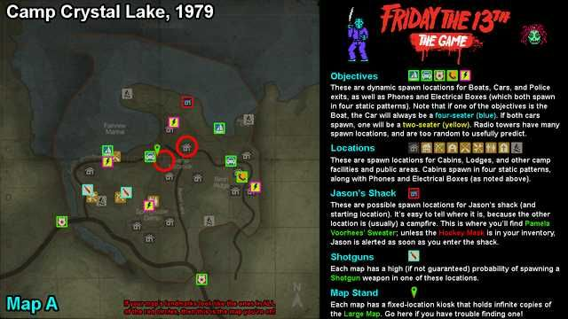 camp crystal lake map Friday The 13th The Game Full Maps Friday The 13th Friday The camp crystal lake map