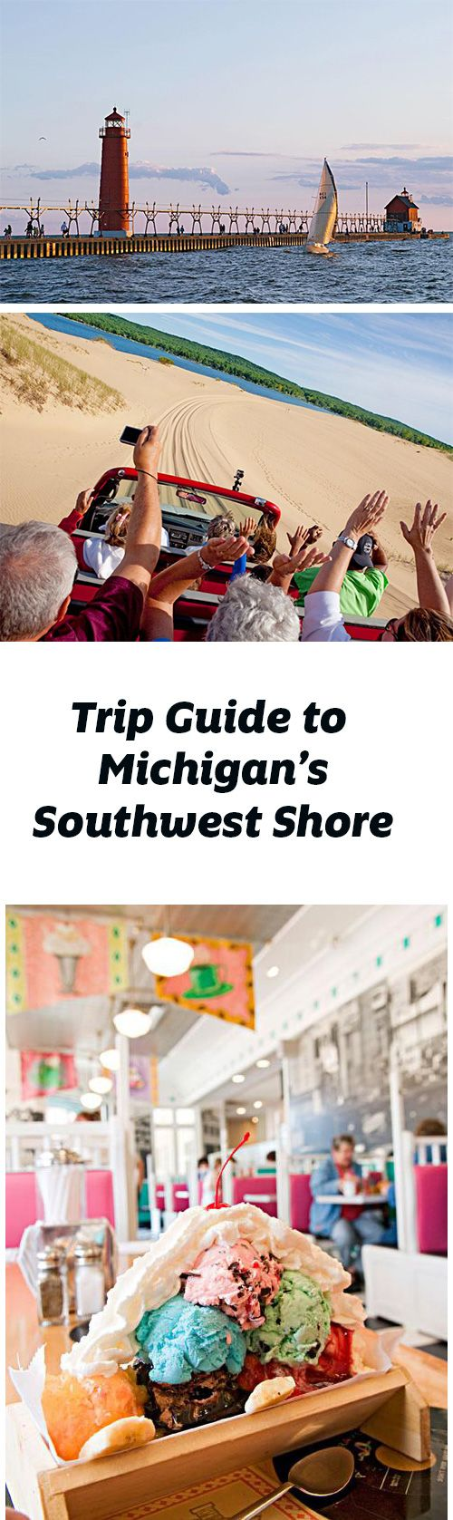 Lighthouses, dune buggy rides, powder-fine sand and the deep blue water of Lake Michigan draw visitors to the towns of Michigan's southwest shore. Trip guide: http://www.midwestliving.com/travel/michigan/explore-michigans-southwest-shore/