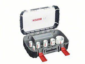 Bosch 2608580877 Coffret de 9 Scies trépan progressor pour Plombier/Carreleur 19/ 25/ 30/ 35/ 40/ 68 mm