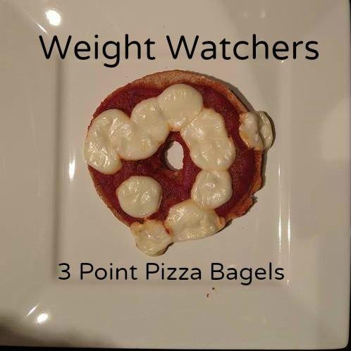 Weight Watchers 3 Point Pizza Bagels Recipe #SmarterTreats |  #sponsored  Sarah Scoop