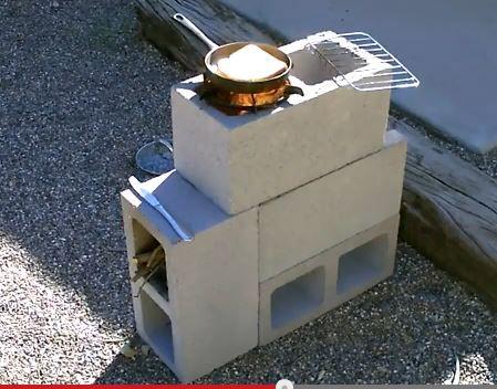 "The ""4 Block"" Rocket Stove! - DIY Rocket Stove    Self-Sufficiency"