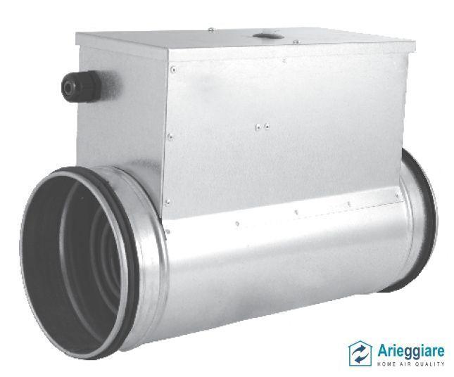 Batteria riscaldamento aria con resistenza elettrica per canale circolare spiro