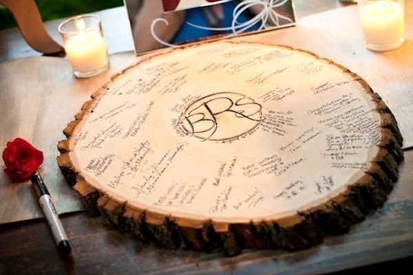 """Lines Across"": 20 Creative Guest Book Ideas for a DIY Wedding"