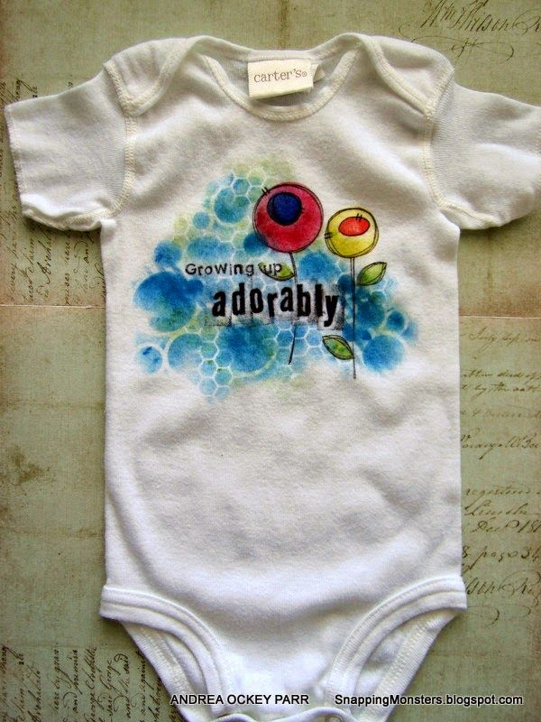 """Snapping Monsters: My Other Creations: """"Growing Up Adorably"""" Onesie"""