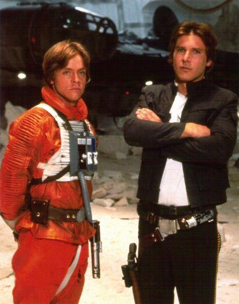 *LUKE SKYWALKER (Mark Hamill) & HAN SOLO (Harrison Ford) ~ Star Wars: