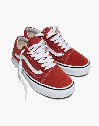 8c3607509e Vans® Unisex Old Skool Lace-Up Sneakers in hot sauce true white image 1
