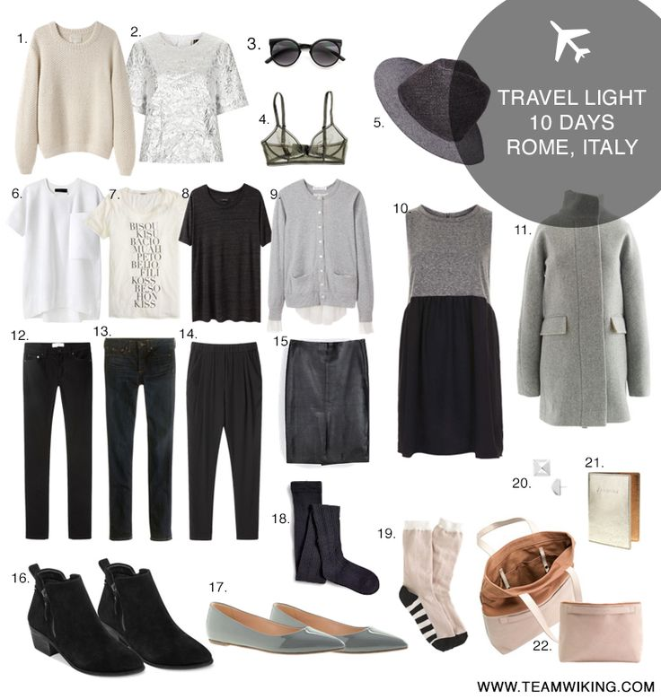 Travel light outfits