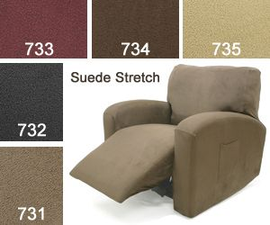 Fancy #Suede Stretch Recliner Covers at a great prices.  Recline covers