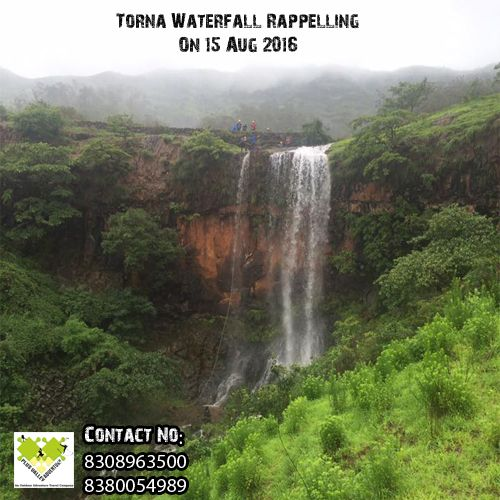 Waterfall Rappelling At Torna Book Now - http://bit.ly/29Ctgbe