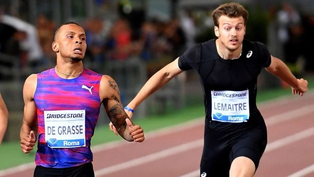 De Grasse  Sprints    2016 Olympic silver medalist Andre De Grasse of Canada won the Rome leg of the Diamond League in 20.01 ahead of former olympic bronze medalist Christian Lemaitre of France 20.29 and Ameer Webb 20.33 of the United States.   #2010 Haiti earthquake #2015 United Nations Climate Change Conference #Akani Simbine #Alpine skiing combined #American English #Appellate court #Atomic nucleus #Bachelor of Science #Barack Obama #Berlin #China #Donald Trump #Pr