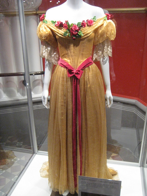 The Young Victoria Costumes: Queen Victoria's Coronation Ball Dress by moorina, via Flickr