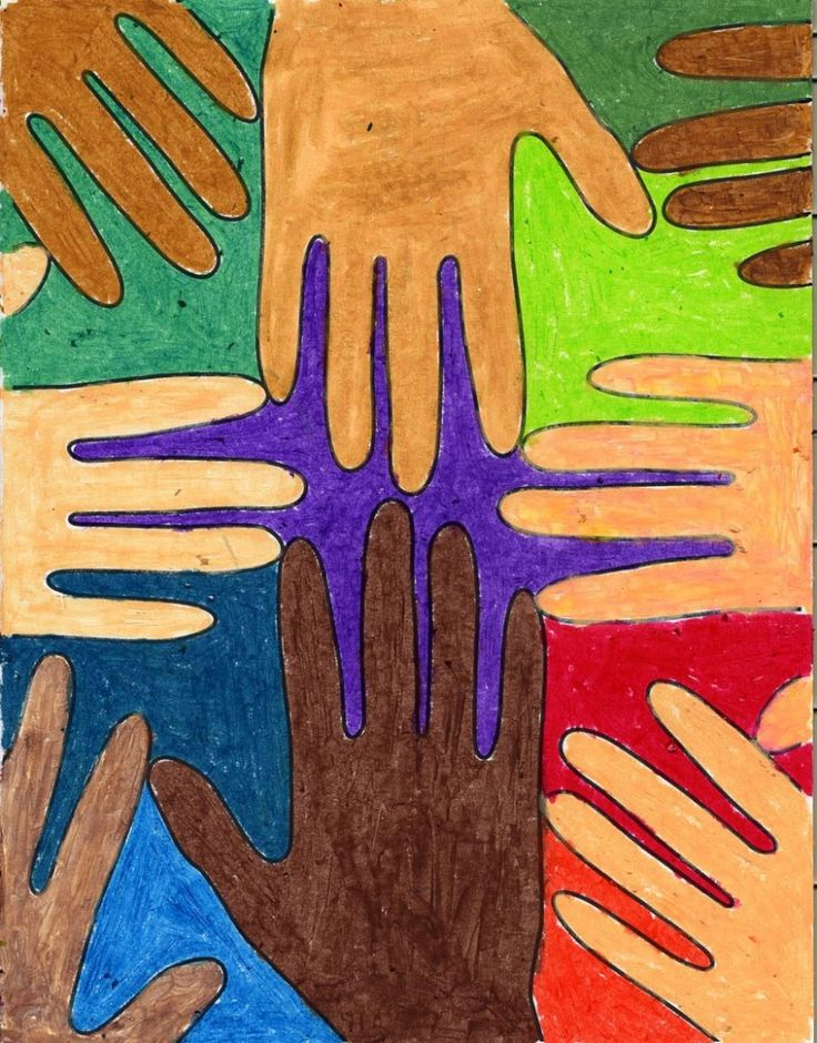 Week 2: Many-Colored Hands from Art Projects for Kids