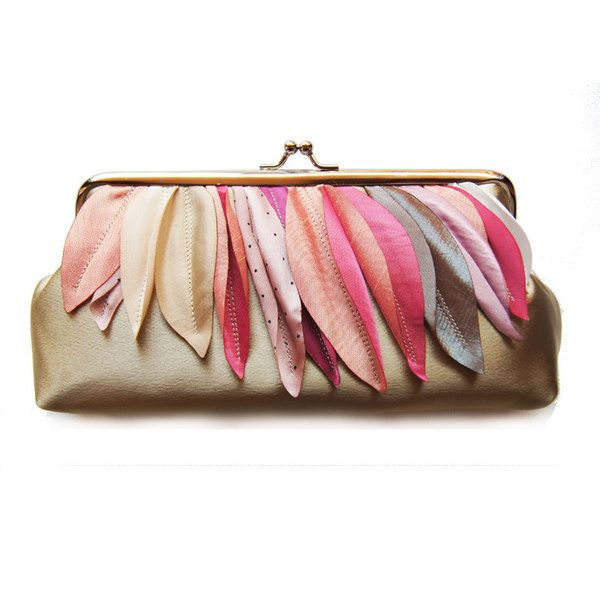 Unique, simple design ,handmade small clutch, ideally for Bride or Bridesmaids..    This clutch is lined with polyester lining.    If you would lik...