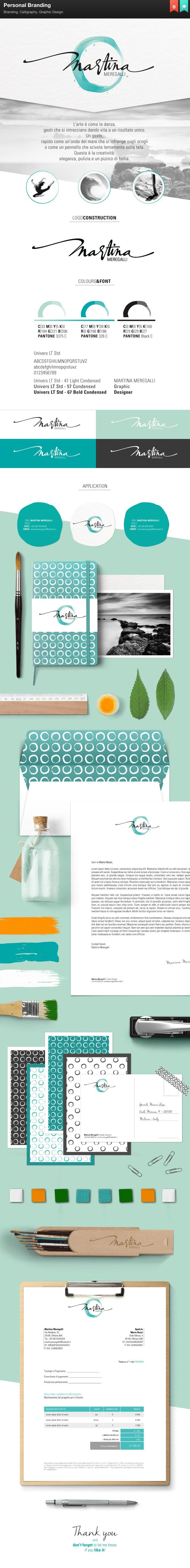 Corporate Identity - Martina Meregalli (behance)