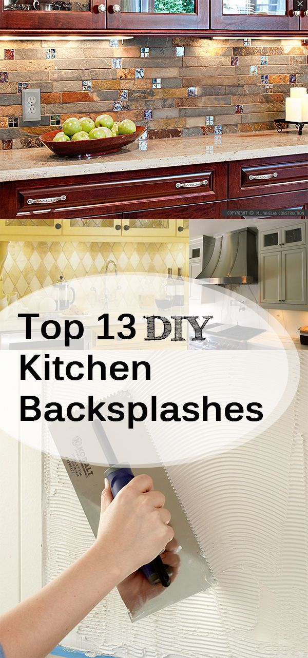 Top 13 DIY Kitchen Backsplashes