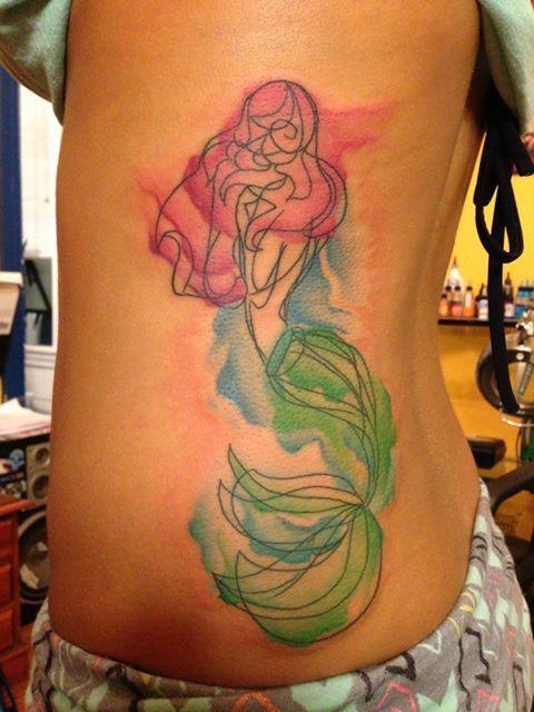 Watercolor mermaid tattoo the image kid for Mermaid tattoos pinterest