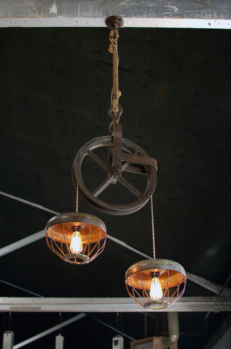 17 Best Ideas About Pulley Light On Pinterest Rustic
