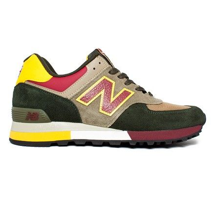 New Balance M576 EKG UK (Green/Burgundy/Yellow) - Three Peaks Challenge