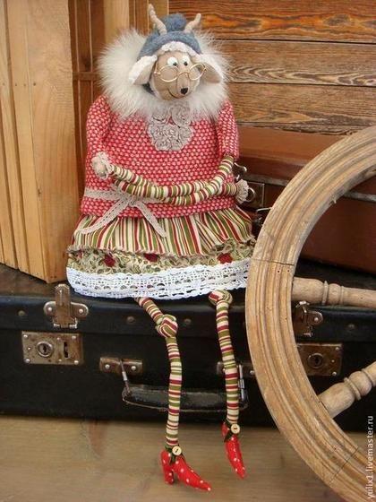 Новый год 2015 ручной работы. Ярмарка Мастеров - ручная работа Идёт коза рогатая.... Handmade.
