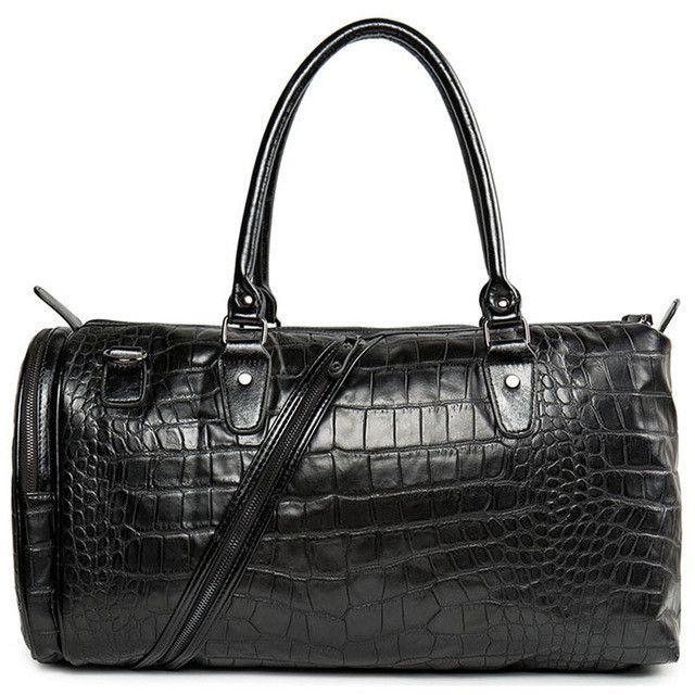 Famous brand men boston handbags high quality alligator leather men travel bags handbags boston style designer men shoulder bags