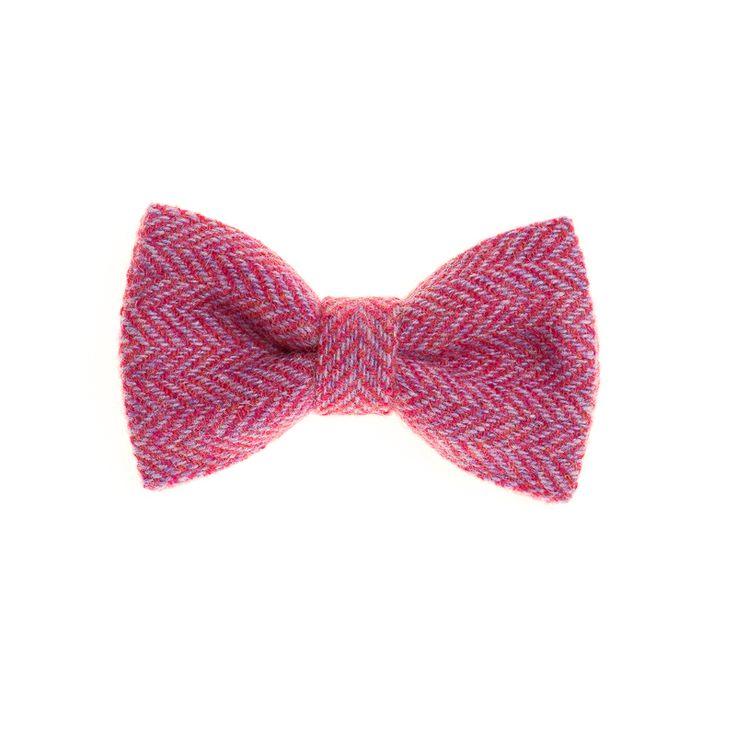 """Fuchsia"" Donegal #Tweed  #Bowtie. FREE Worldwide Shipping!"