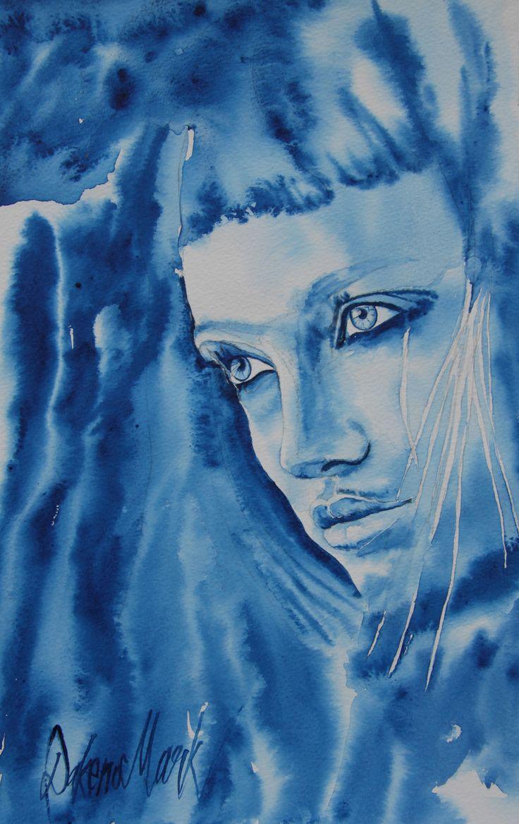 Diana, watercolour by Dakeno Mark, 2014
