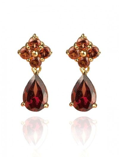 9ct Garnet Drops - Available at Onyx Goldsmiths