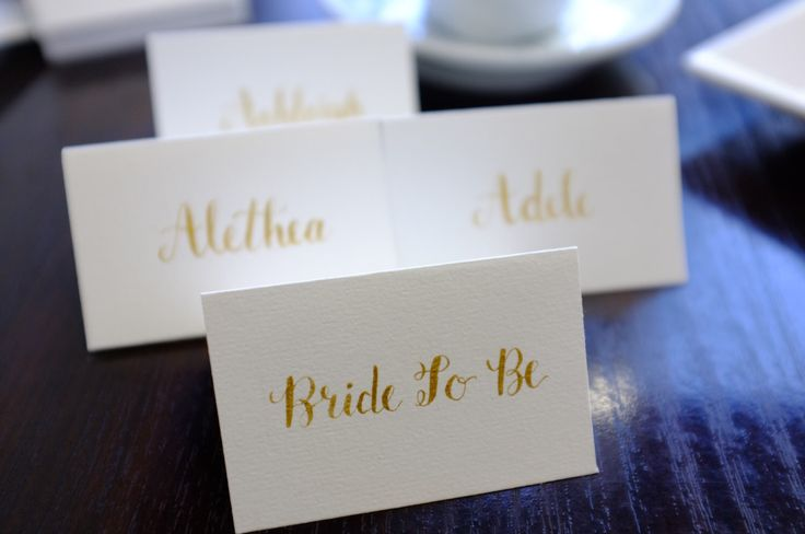 Wedding Place Cards - Calligraphy Escort Cards, Classic wedding, elegant, Name Writing, Gold lettering, Party, Birthday, Handmade by LovinaCreative on Etsy https://www.etsy.com/au/listing/478087993/wedding-place-cards-calligraphy-escort