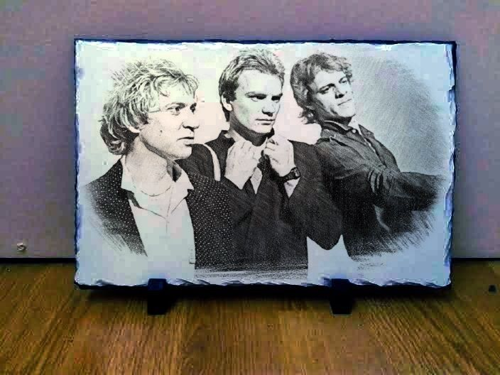 "The Police Band Sting Art Portrait on Slate 12x8"" Rare Collectables memorabilia"