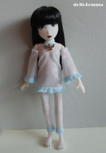 ISIS Handmade Fashion for EMILY the STRANGE DOLL Silver Dress & Leggings  $18.00 on ebay - by DOLLS4EMMA