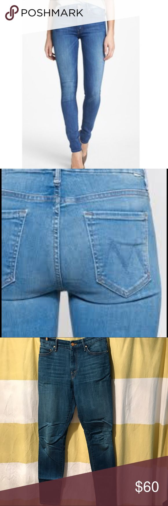 MOTHER High Waisted Looker in Out of the Blue Super cute High Waisted Looker Jeans from MOTHER Denim. Worn less than five times, in like new condition. 98% cotton, 2% elastine. MOTHER Jeans Skinny