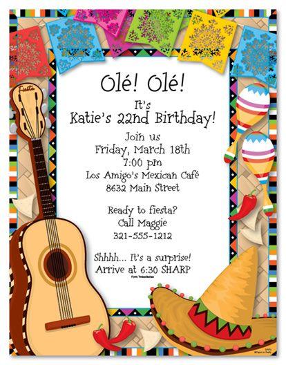 best 25+ fiesta invitations ideas on pinterest | fiesta theme, Party invitations