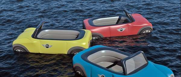 Car-Inspired Beach Toys - Love these Mini Inflatables