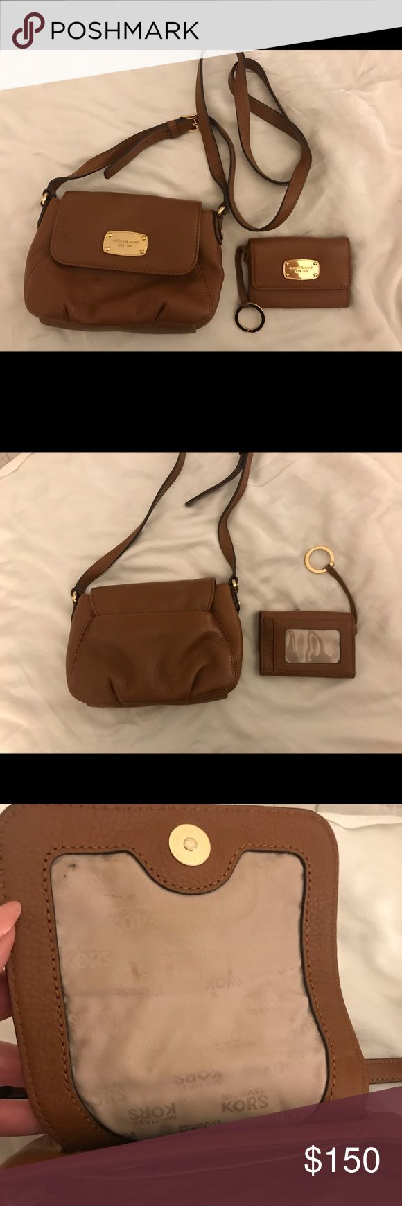 Michael Kors cross body and small card wallet Brown Michael Kors cross body with…
