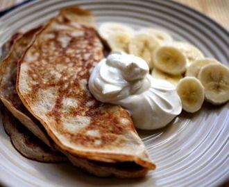 Nyttiga proteinpannkakor