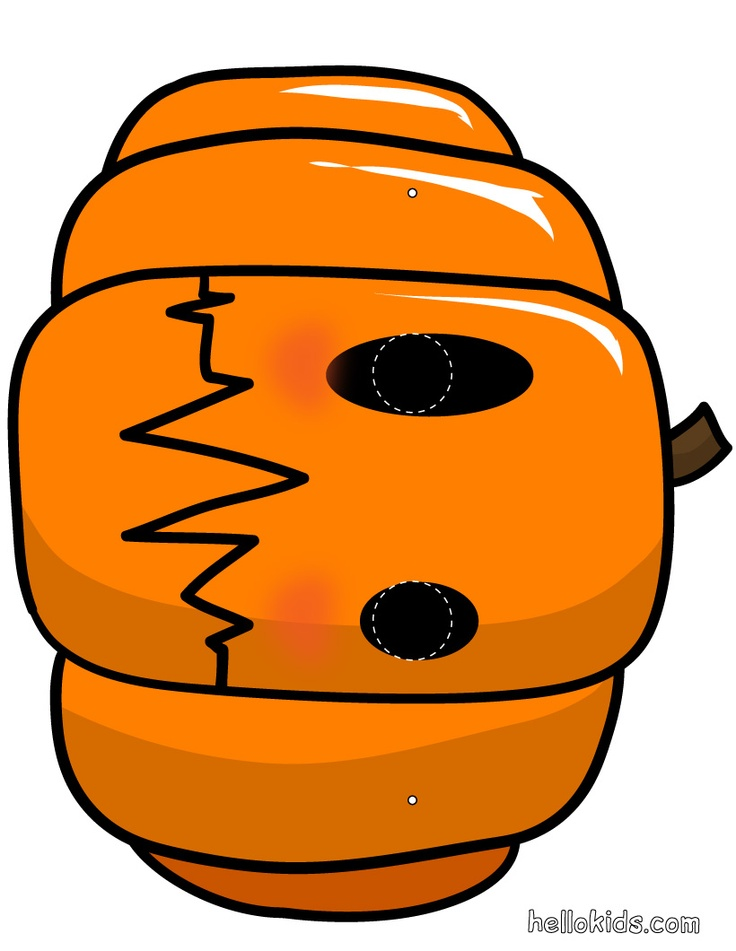 pumpkin_mask - printable for story retelling (little old lady who was not afraid of anything)