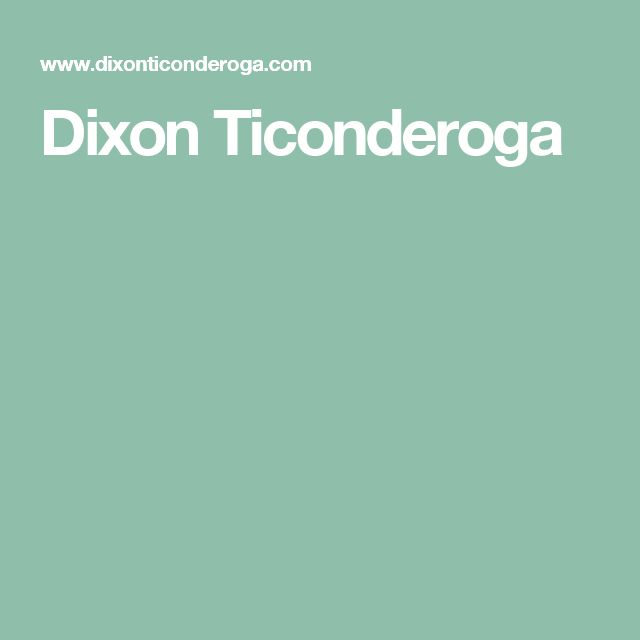 Dixon Ticonderoga