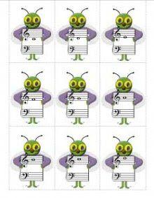 Juegos Musicales: Preciosas fichas imprimibles: Susan Paradis
