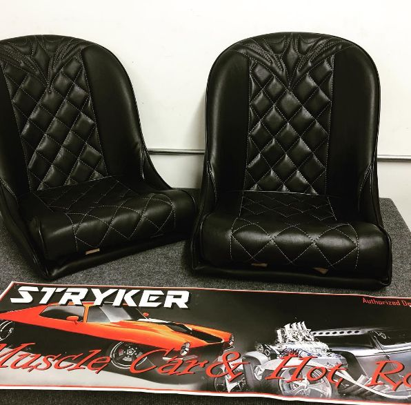 This Is A Pair Of Low Back Bucket Bomber Seats Black