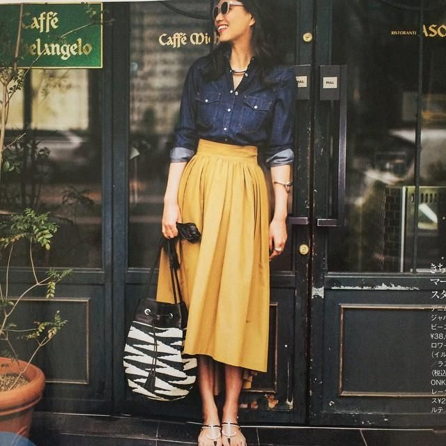 大人ガーリーなミモレ丈スカートを可愛くはきこなそう♡おしゃれなコーデ集|マシマロ