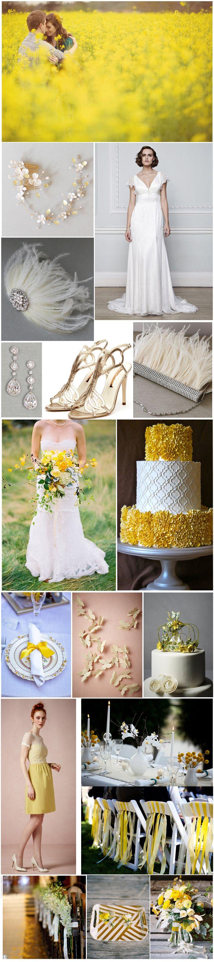 Yellow Themed Wedding