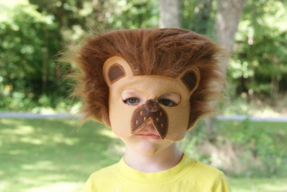 Lion Cat Felt Mask Animal Mask Animal door fAverittecreations