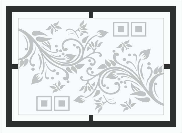 Glass rail design for etching   Home decor decals, Glass ...