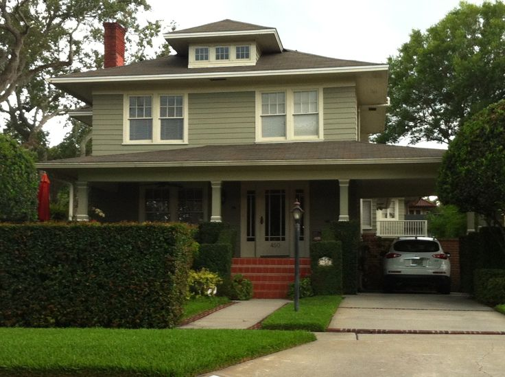 Best 25 foursquare house ideas on pinterest for American house exterior design