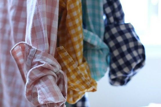 feels like spring with these: Fashion, Button Up, Gingham Shirts, Style, Color, Plaid, Closet, Flannel, Wear