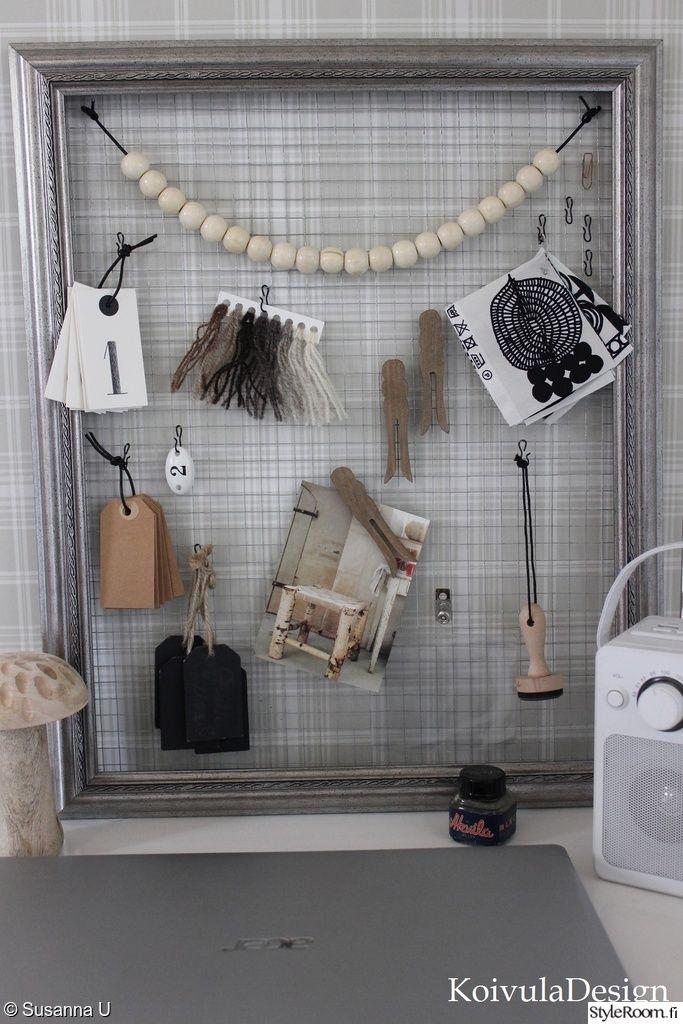 ilmoitustaulu,diy,askartelu,ideataulu,kehykset ja verkkoa,työpiste,kierrätys,Tee itse - DIY